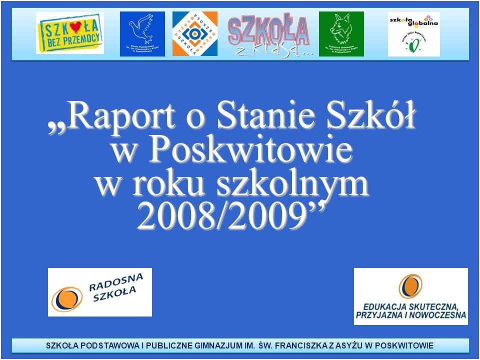 """""""Raport o Stanie Szkół w Poskwitowie w roku szkolnym 2008/2009"""