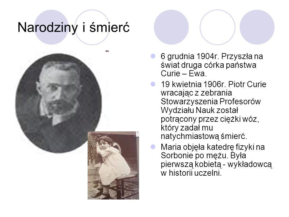 Narodziny i śmierć 6 grudnia 1904r. Przyszła na świat druga córka państwa Curie – Ewa.