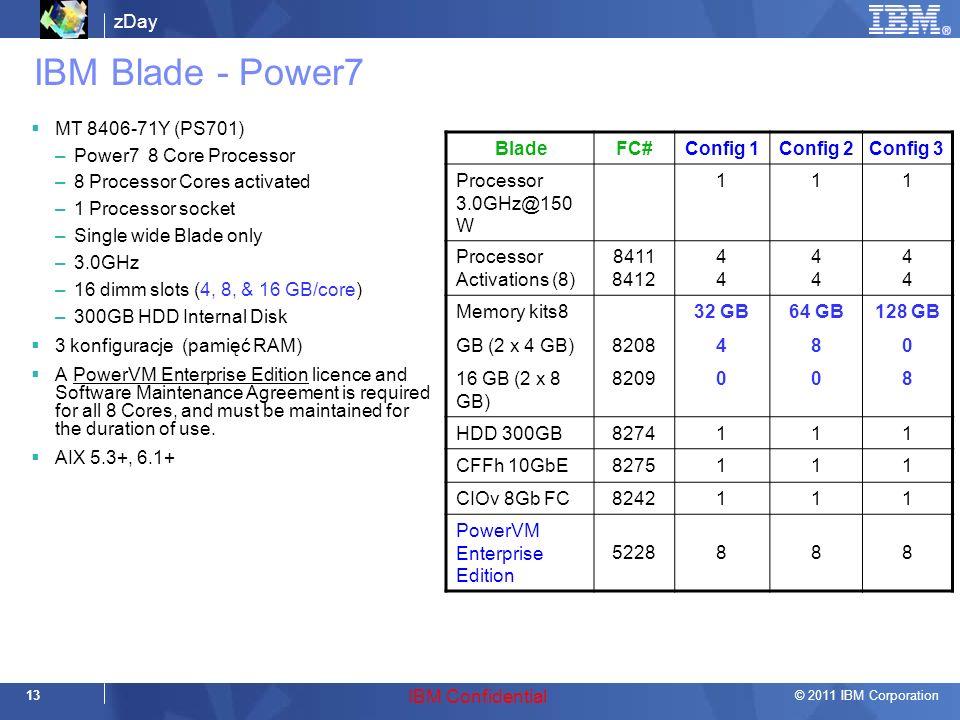 IBM Blade - Power7 MT 8406-71Y (PS701) Power7 8 Core Processor