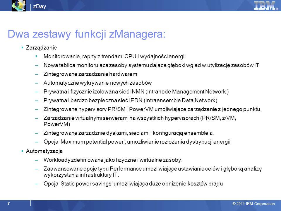 Dwa zestawy funkcji zManagera: