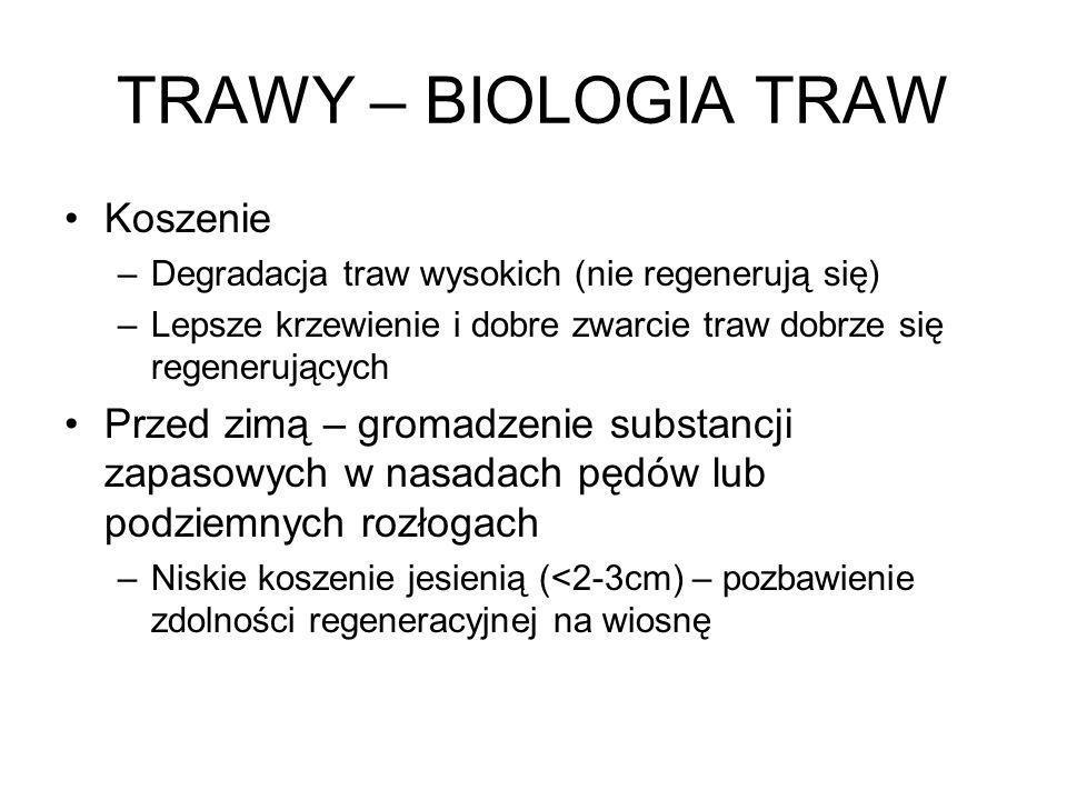TRAWY – BIOLOGIA TRAW Koszenie