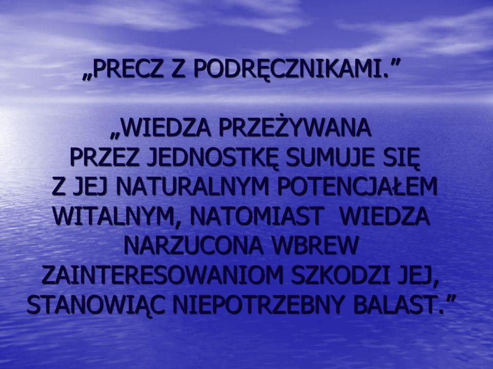 """""""PRECZ Z PODRĘCZNIKAMI"""