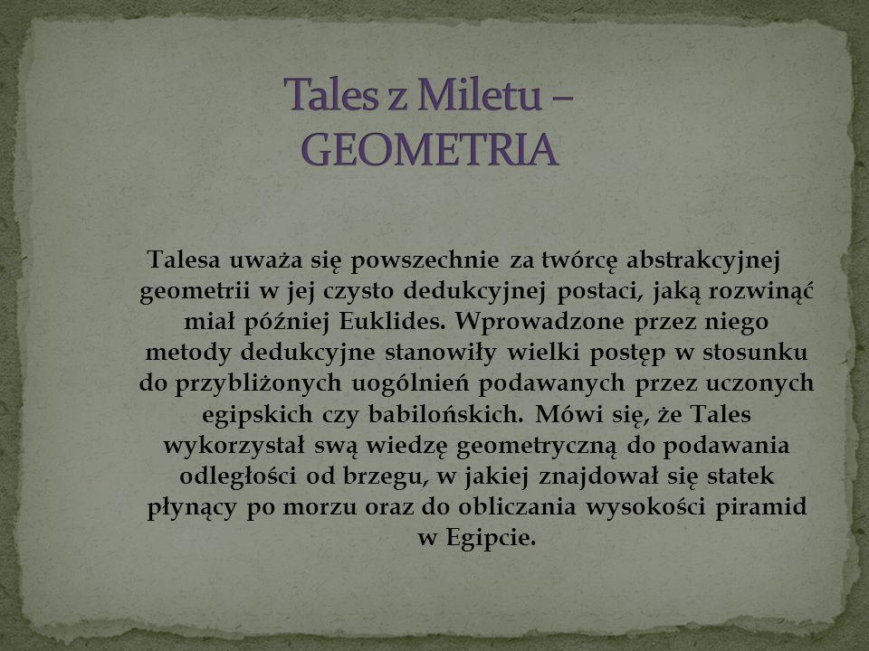 Tales z Miletu – GEOMETRIA