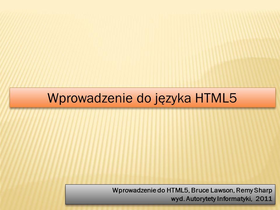 Wprowadzenie do języka HTML5