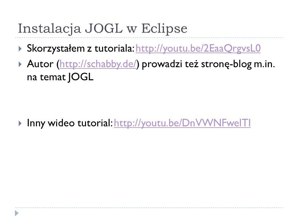 Instalacja JOGL w Eclipse