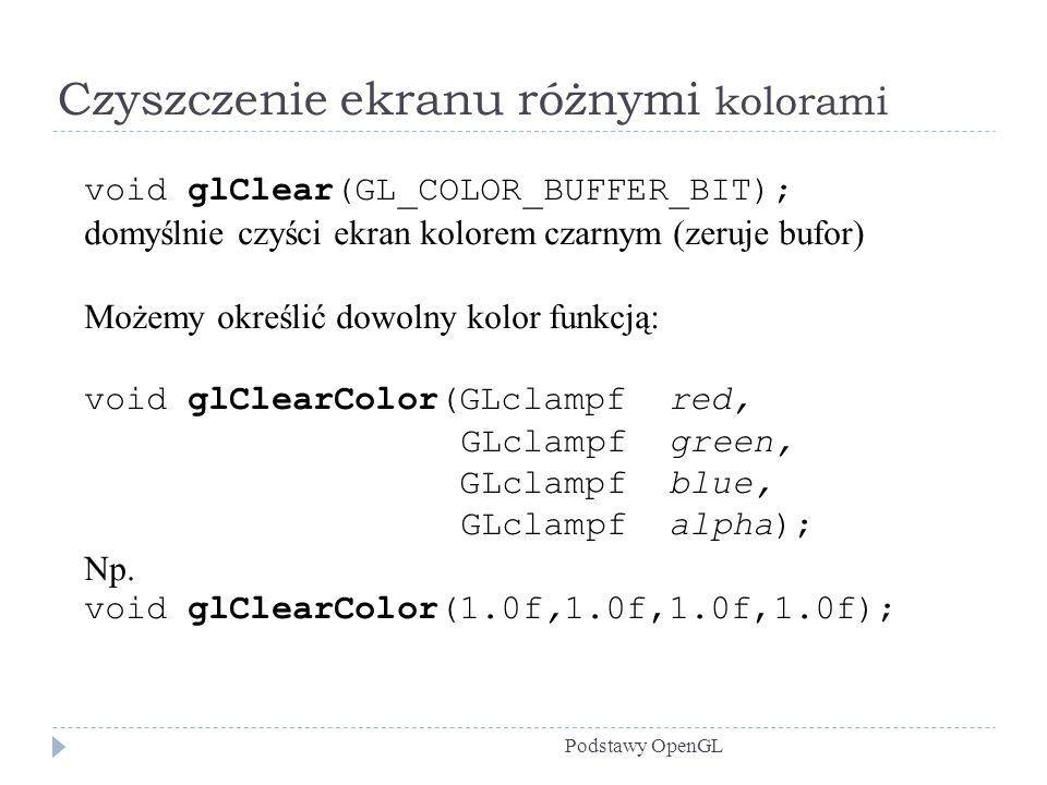 Czyszczenie ekranu różnymi kolorami