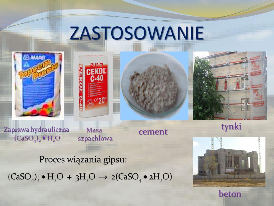 (CaSO4)2  H2O + 3H2O  2(CaSO4  2H2O)