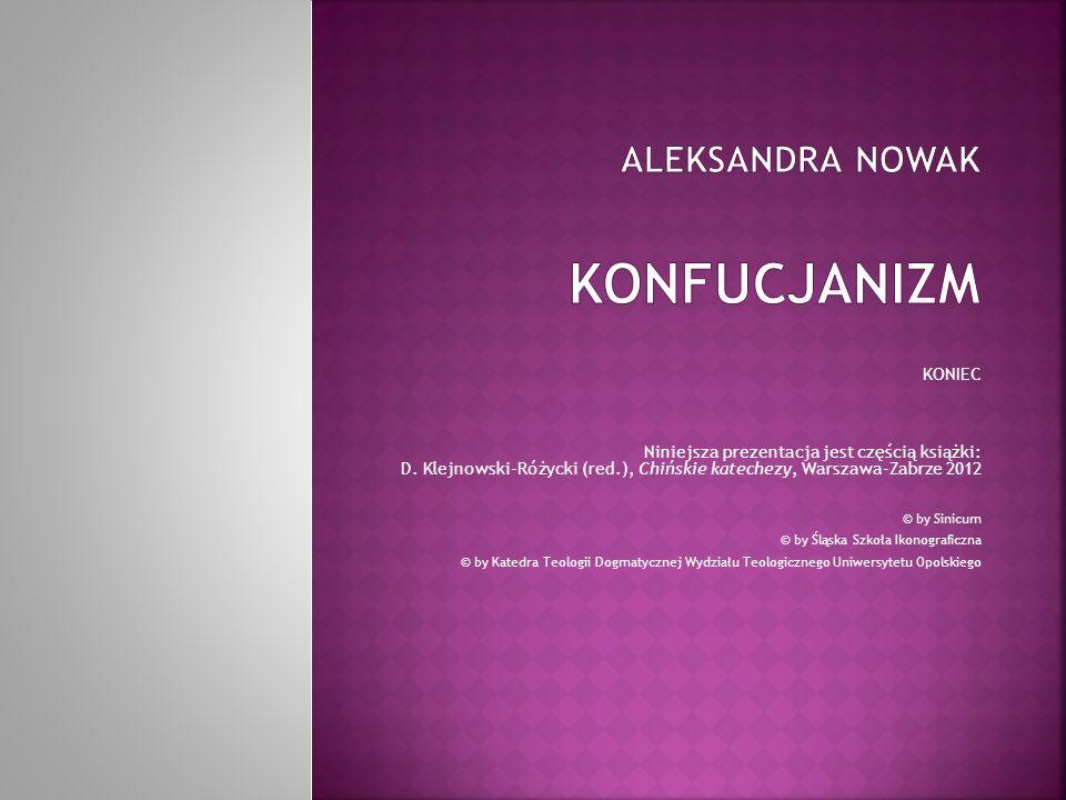 Aleksandra Nowak Konfucjanizm
