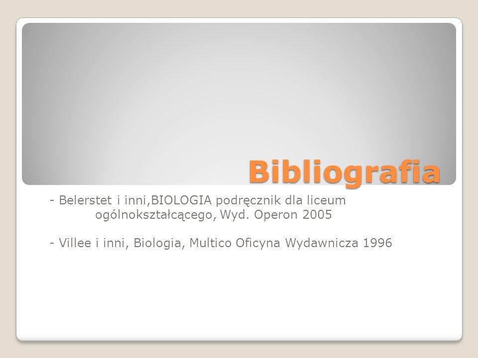 Bibliografia - Belerstet i inni,BIOLOGIA podręcznik dla liceum