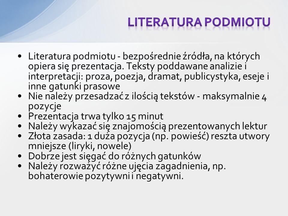 Literatura podmiotu