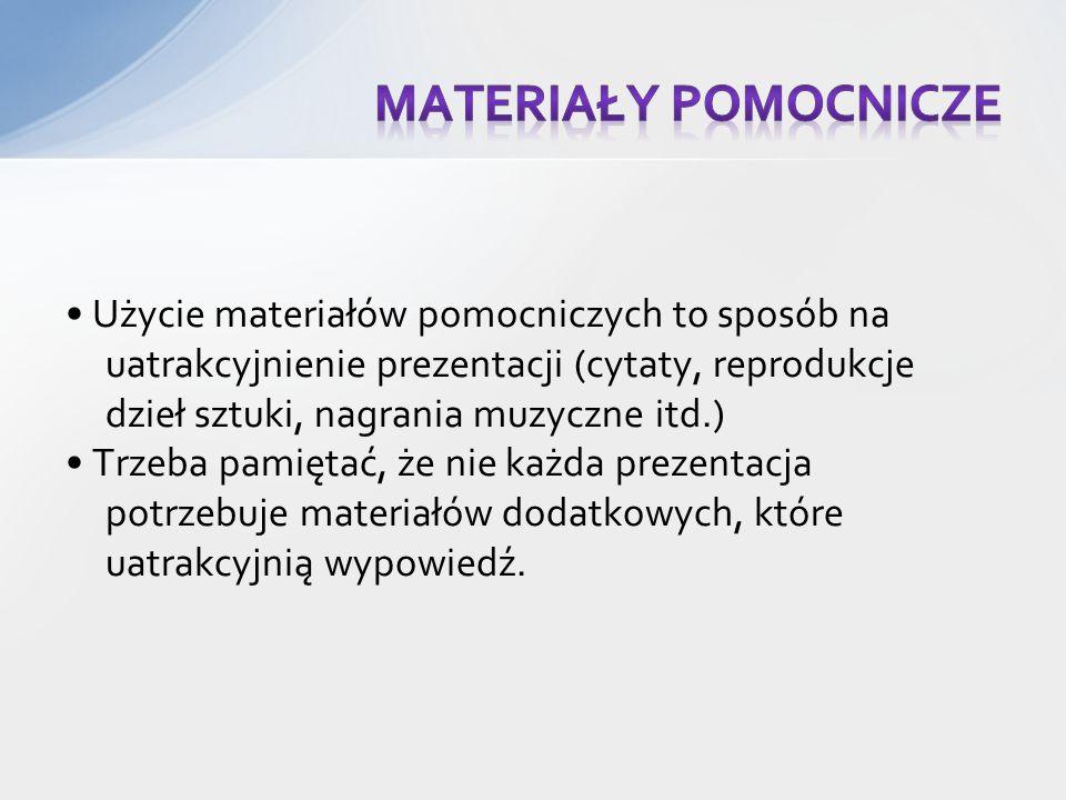 Materiały pomocnicze