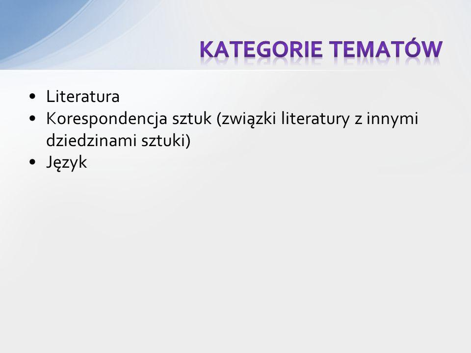 Kategorie tematów Literatura