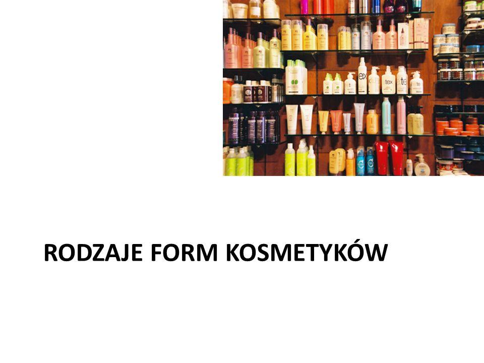 Rodzaje form kosmetyków