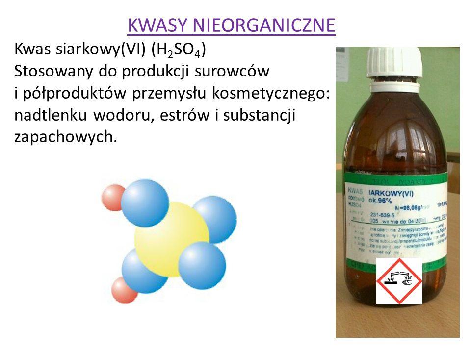 KWASY NIEORGANICZNE Kwas siarkowy(VI) (H2SO4)