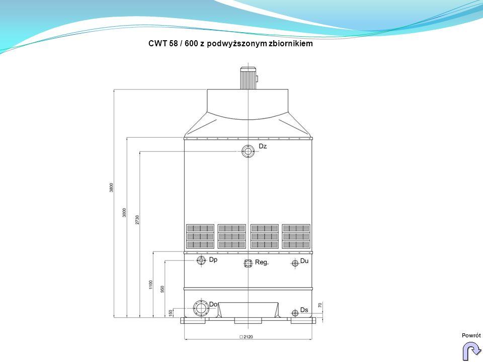 CWT 58 / 600 z podwyższonym zbiornikiem