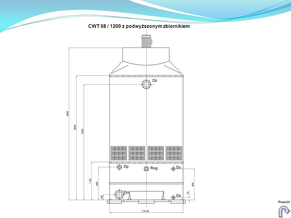 CWT 58 / 1200 z podwyższonym zbiornikiem