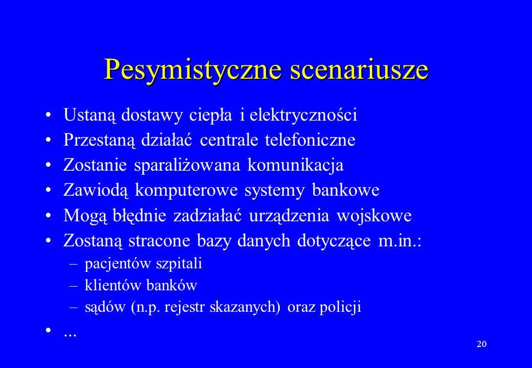 Pesymistyczne scenariusze