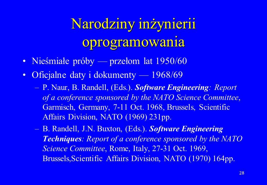 Narodziny inżynierii oprogramowania