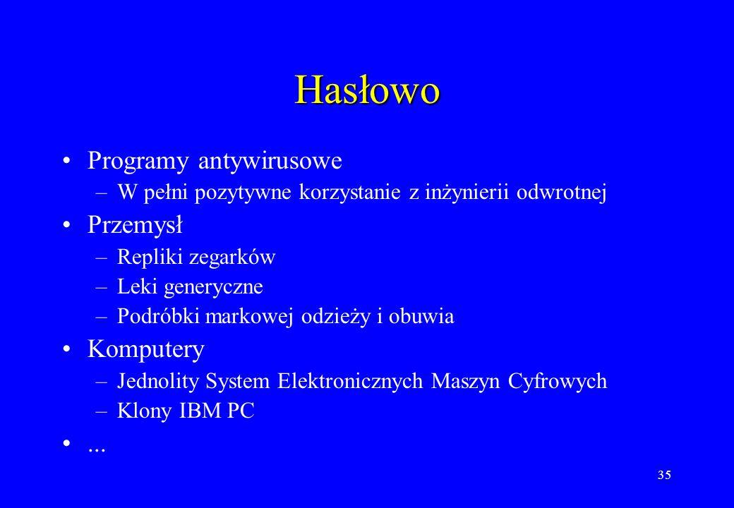 Hasłowo Programy antywirusowe Przemysł Komputery ...
