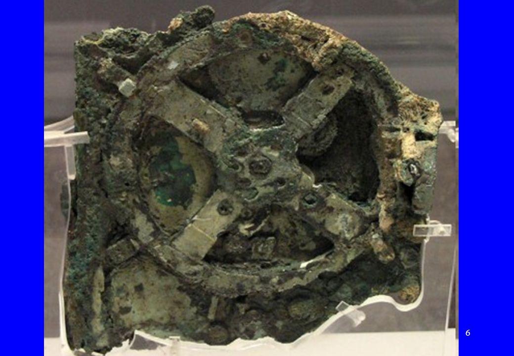 Bryłki brązu na wrakuRok 1900 – odkrycie wraku starożytnego statku handlowego niedaleko wyspy Antykitera (Grecja)