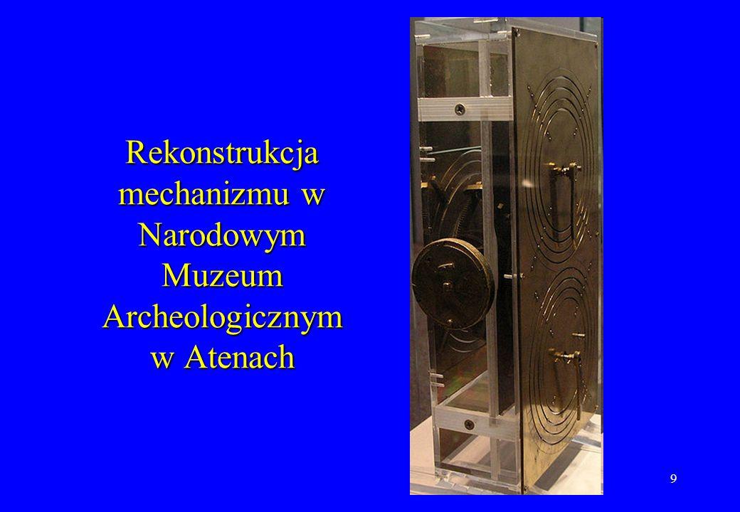 Rekonstrukcja mechanizmu w Narodowym Muzeum Archeologicznym w Atenach