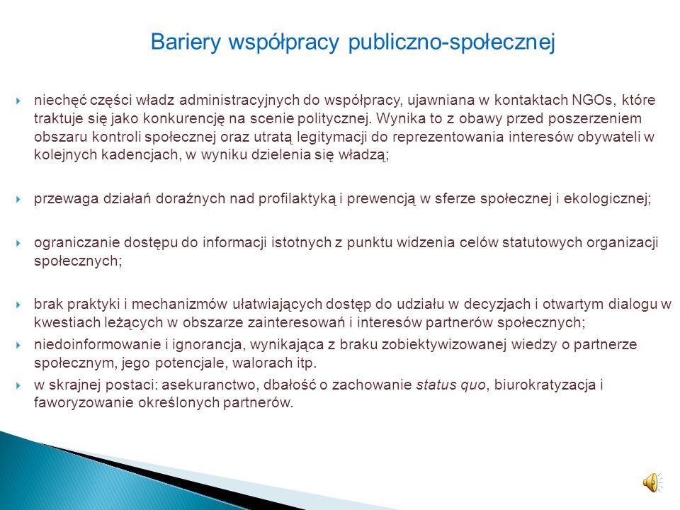 Bariery współpracy publiczno-społecznej