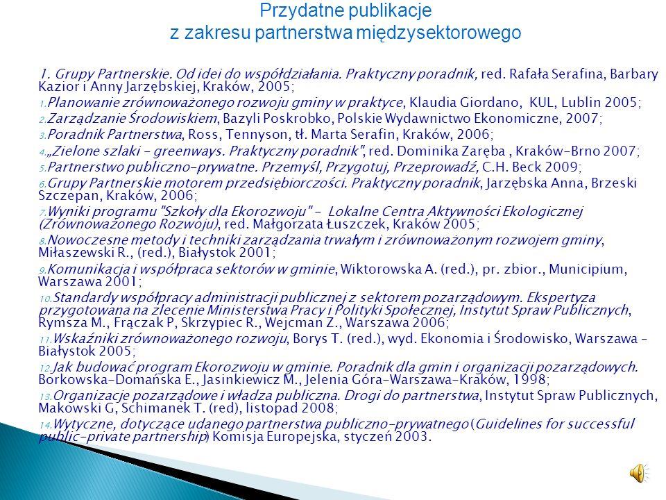 Przydatne publikacje z zakresu partnerstwa międzysektorowego