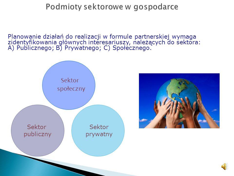 Podmioty sektorowe w gospodarce