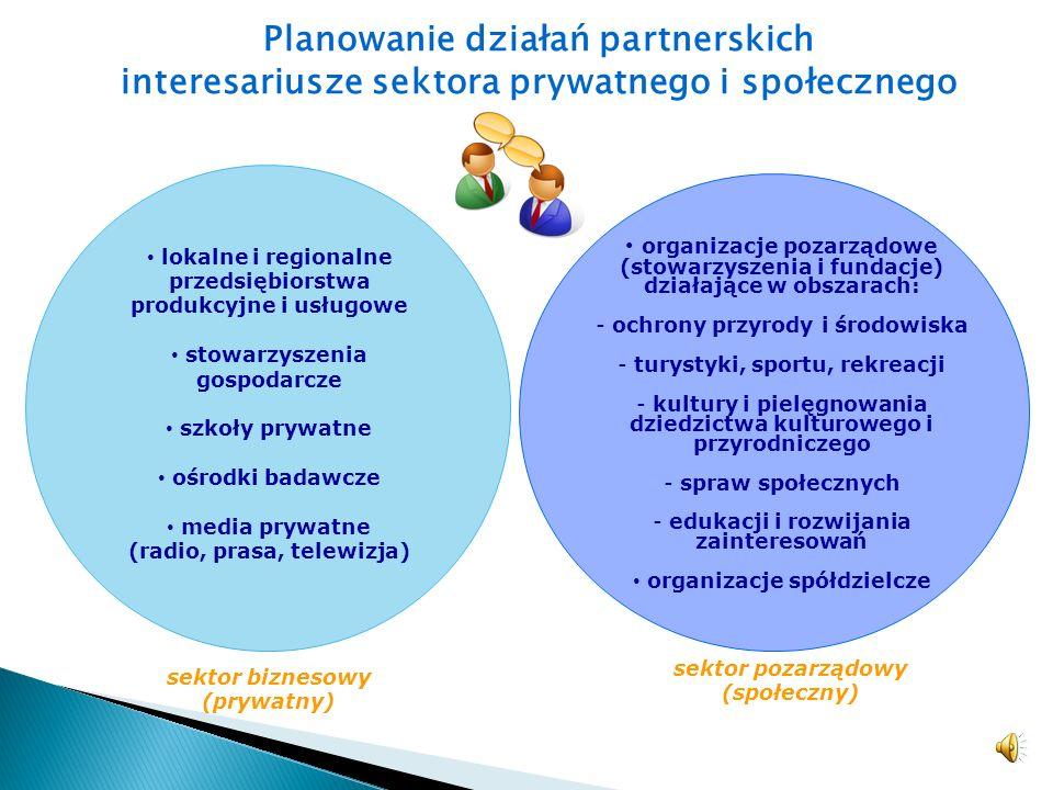 Planowanie działań partnerskich interesariusze sektora prywatnego i społecznego