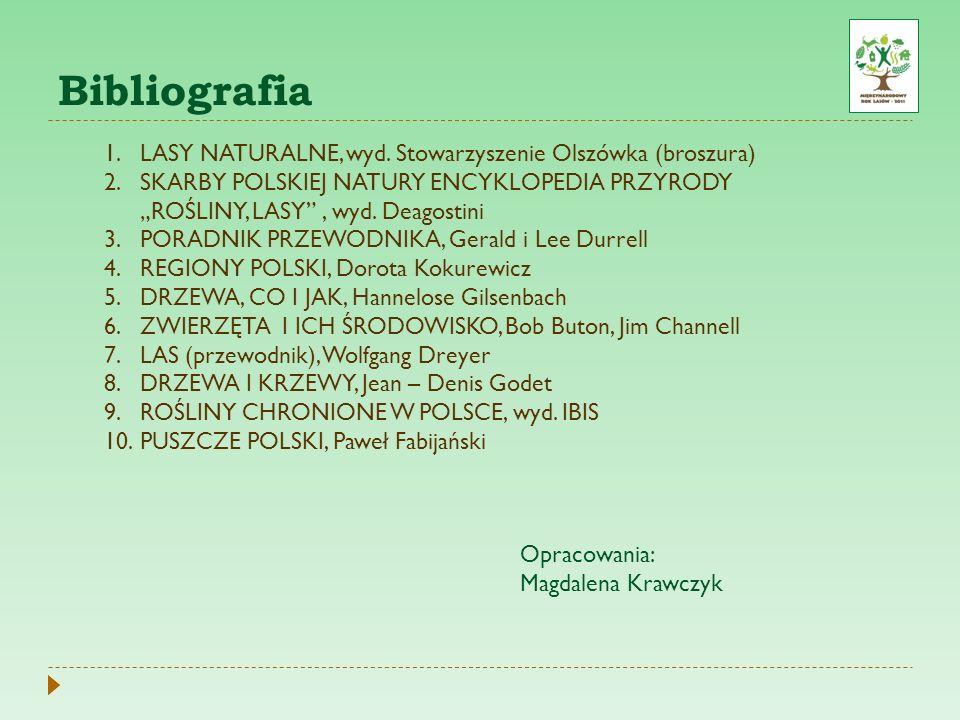 Bibliografia LASY NATURALNE, wyd. Stowarzyszenie Olszówka (broszura)