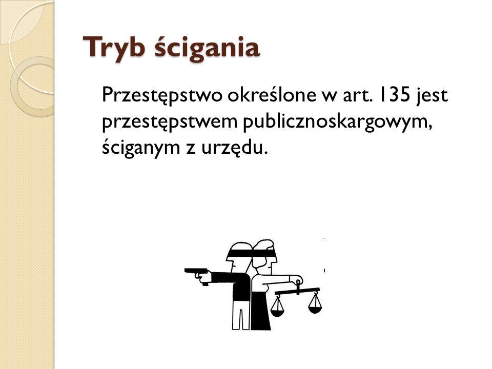 Tryb ścigania Przestępstwo określone w art.