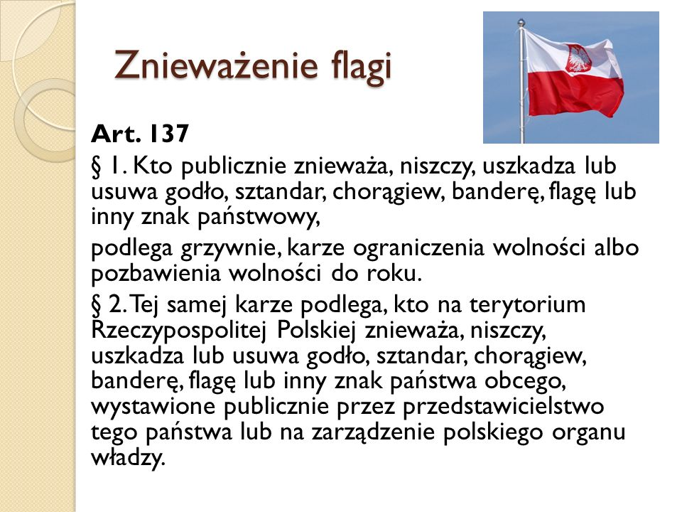 Znieważenie flagi