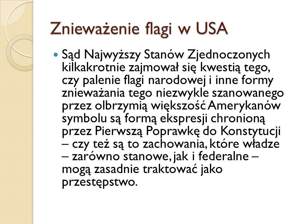 Znieważenie flagi w USA