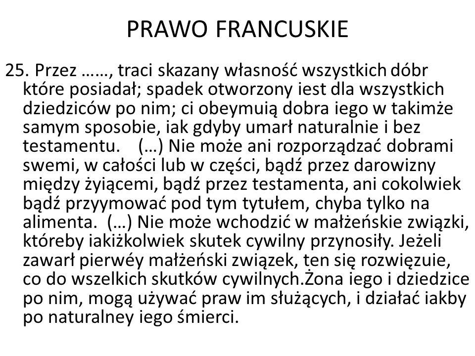 PRAWO FRANCUSKIE