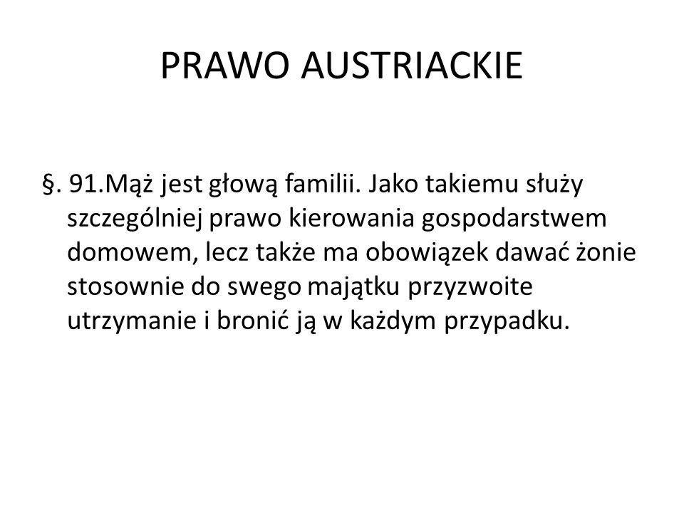 PRAWO AUSTRIACKIE