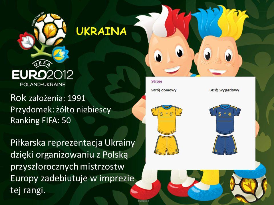 UKRAINA Rok założenia: 1991