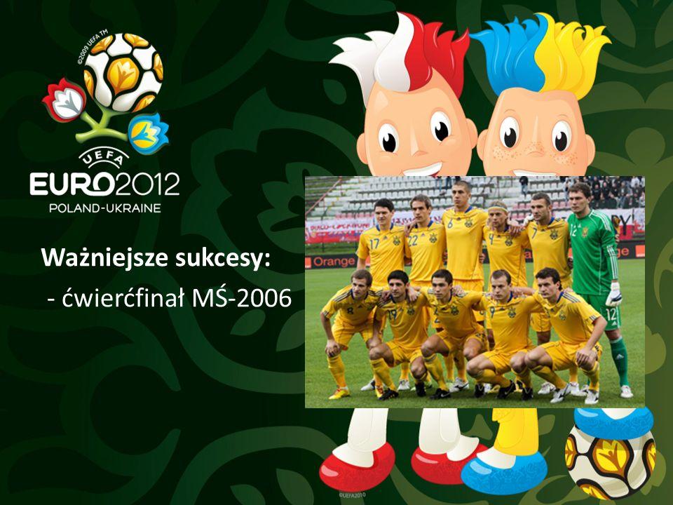 Ważniejsze sukcesy: - ćwierćfinał MŚ-2006