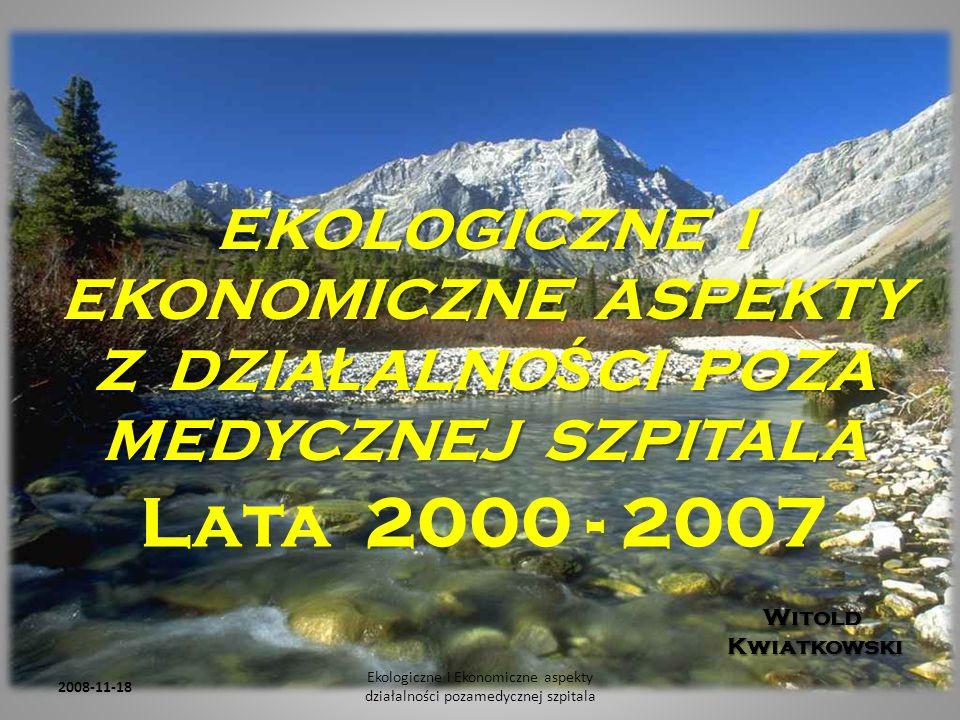 Ekologiczne i Ekonomiczne aspekty działalności pozamedycznej szpitala