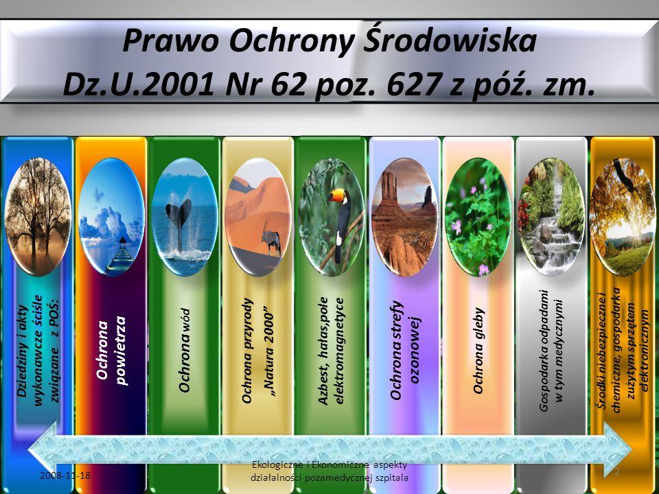 Prawo Ochrony Środowiska Dz.U.2001 Nr 62 poz. 627 z póź. zm.