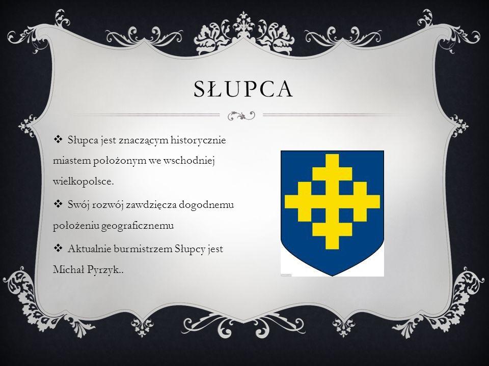słupca Słupca jest znaczącym historycznie miastem położonym we wschodniej wielkopolsce. Swój rozwój zawdzięcza dogodnemu położeniu geograficznemu.