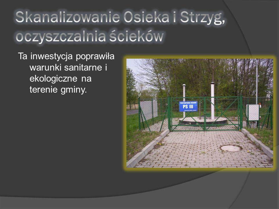 Skanalizowanie Osieka i Strzyg, oczyszczalnia ścieków