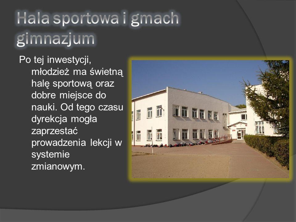 Hala sportowa i gmach gimnazjum
