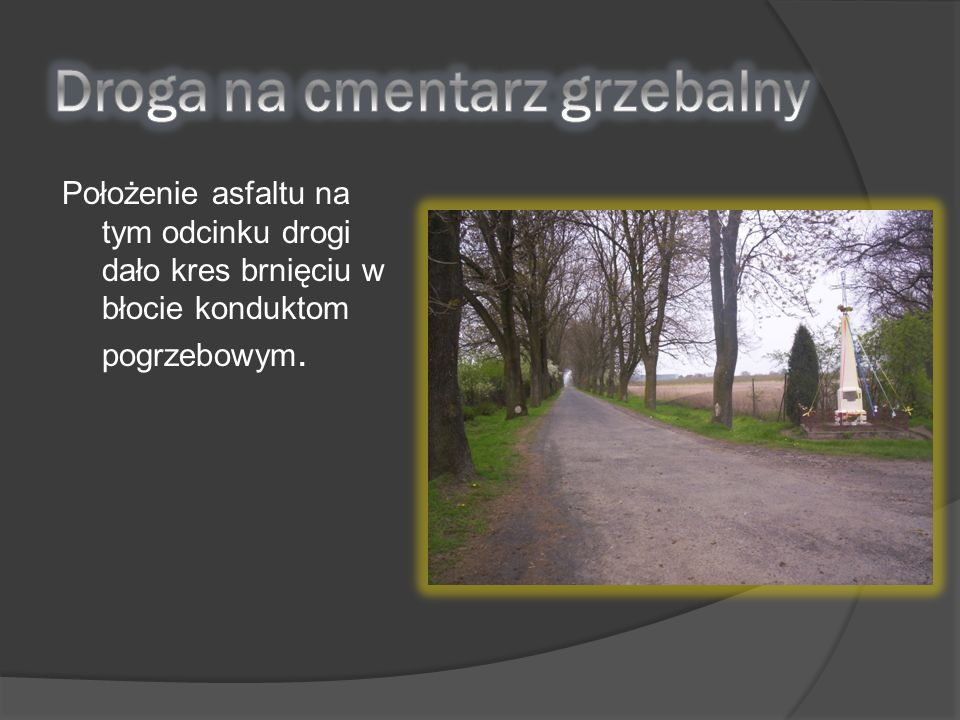 Droga na cmentarz grzebalny