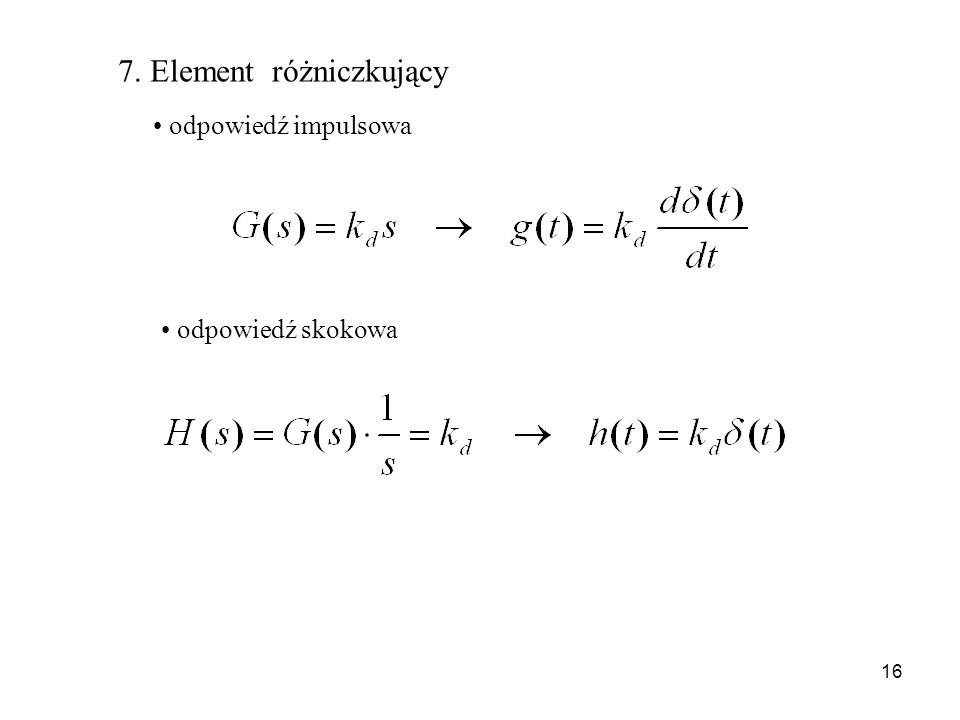 7. Element różniczkujący