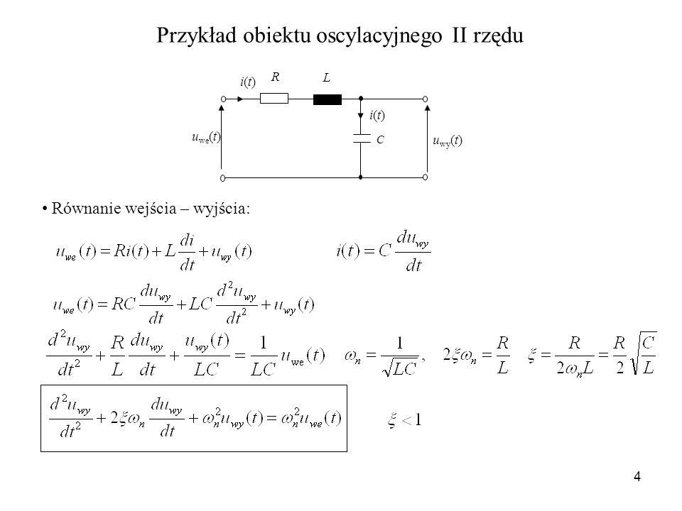 Przykład obiektu oscylacyjnego II rzędu