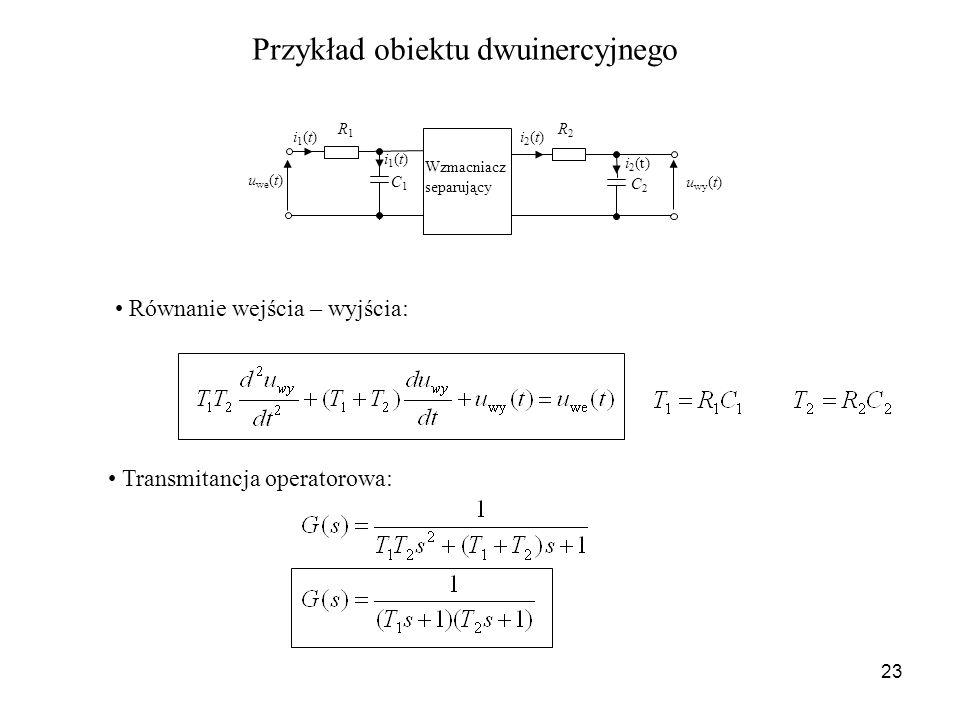 Przykład obiektu dwuinercyjnego