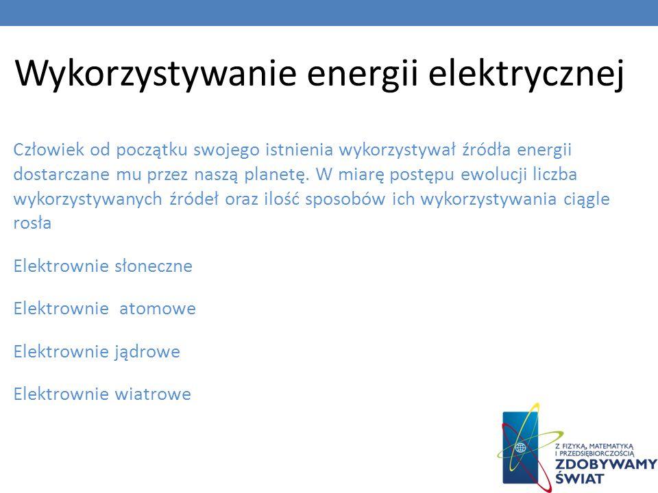 Wykorzystywanie energii elektrycznej