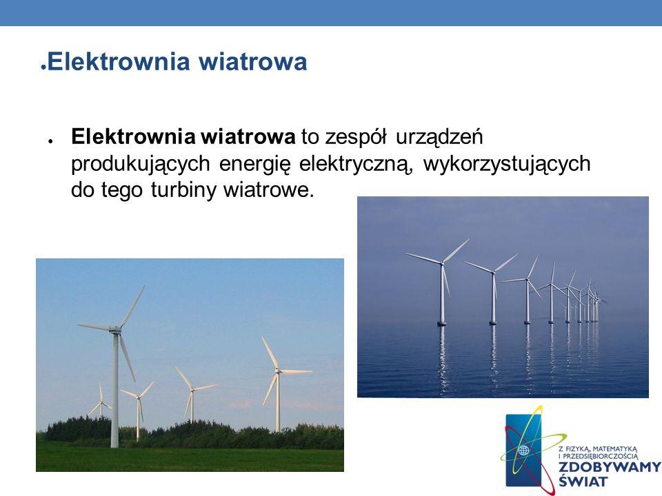 Elektrownia wiatrowaElektrownia wiatrowa to zespół urządzeń produkujących energię elektryczną, wykorzystujących do tego turbiny wiatrowe.
