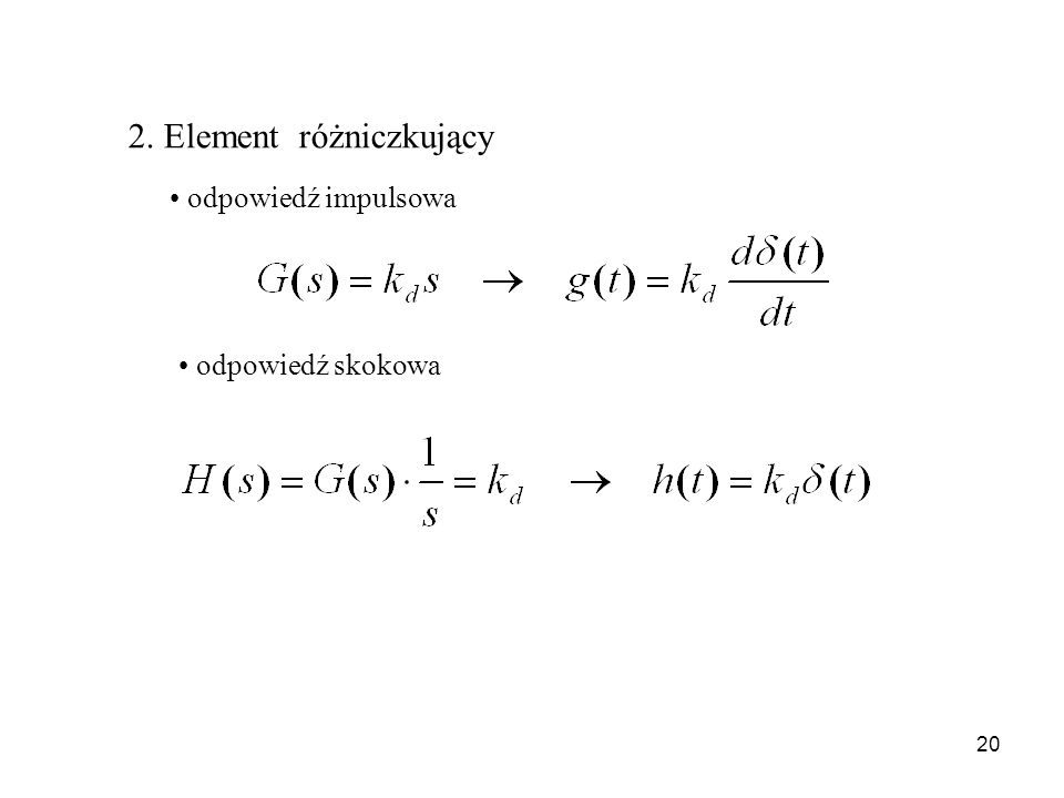 2. Element różniczkujący