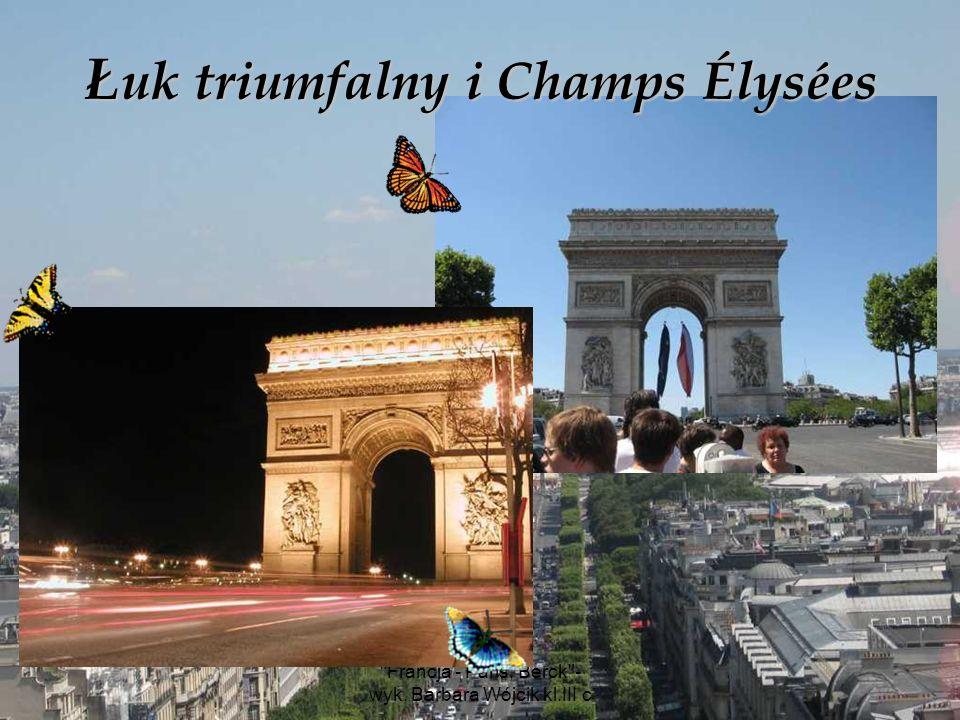 Łuk triumfalny i Champs Élysées